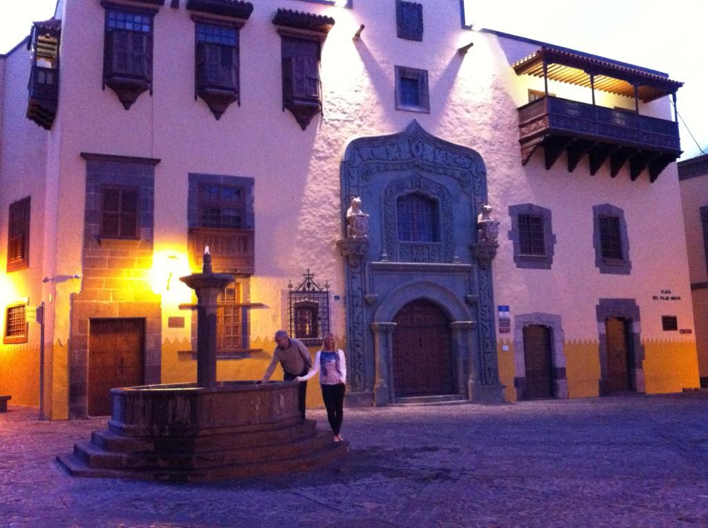 A plaza in Vegueta, Las Palmas old town