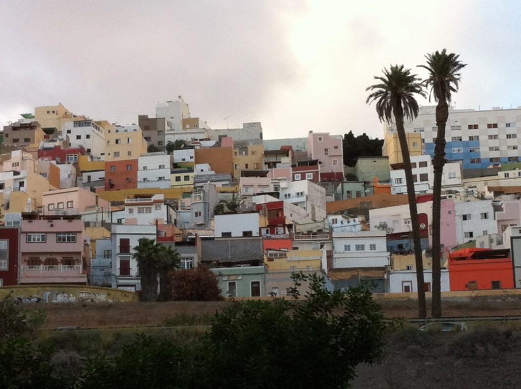 Las Palmas old town climbing the hills