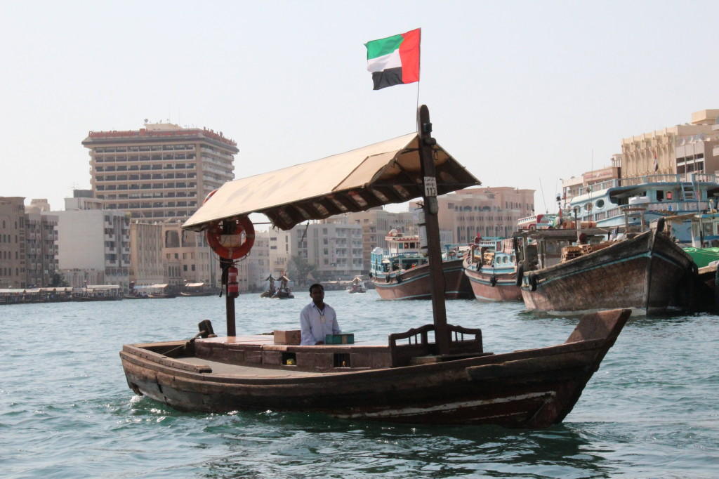 Sightseeing in Dubai on Local Transport, an abra