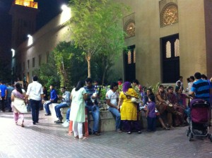 Locals celebrating Friday night