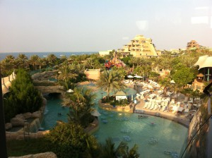 Water park on the Palm