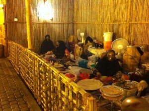 Women selling local delicacies