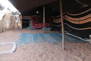 A bedouin tent in the Heritage Village, Abu Dhabi