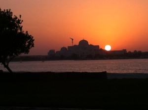 A city view from the Breakwater, Abu Dhabi