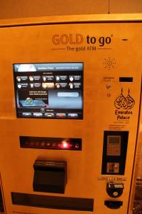The gold vending machine of Emirates Palace Hotel, Abu Dhabi