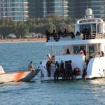 A school class enjoying the water, Abu Dhabi