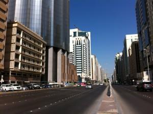 Street view of Abu Dhabi