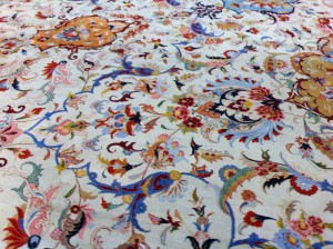 The carpet of the Sheikh Zayed Grand Mosque, Abu Dhabi