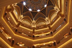 The hall ceiling of Emirates Palace Hotel, Abu Dhabi