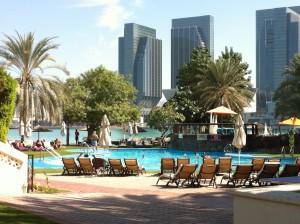 The pool area of Hotel Le Meridien, Abu Dhabi