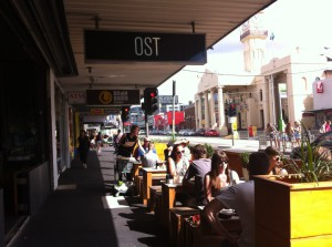 A cafe opposite the town hall, Richmond, Victoria
