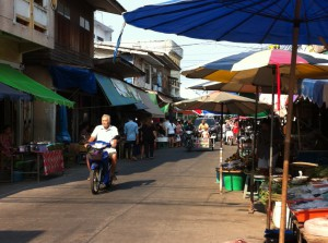 Street view of Ban Phe, Thailand