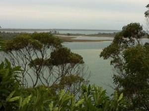 A view of Lakes Entrance, Australia