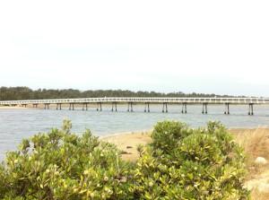 A walking-bridge to the dunes, Lakes Entrance, Australia