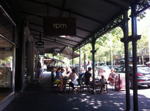 Afternoon in Lygon Street, Melbourne