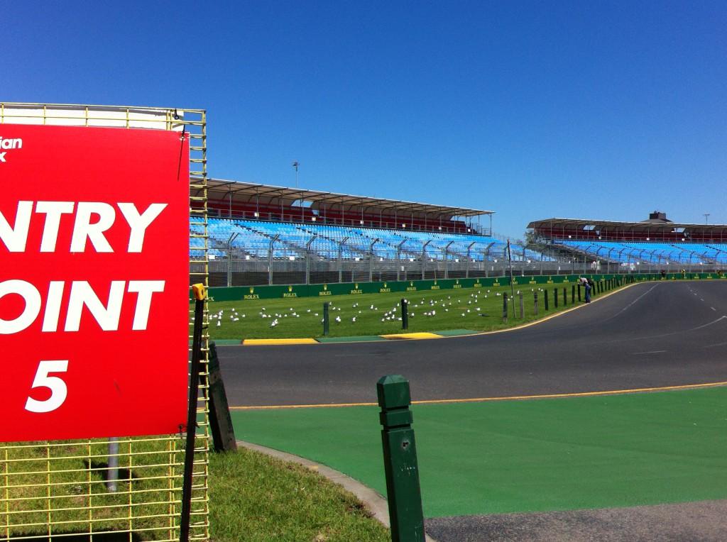 Albert Park preparing preparing for the Formula 1 Australian Grand Prix