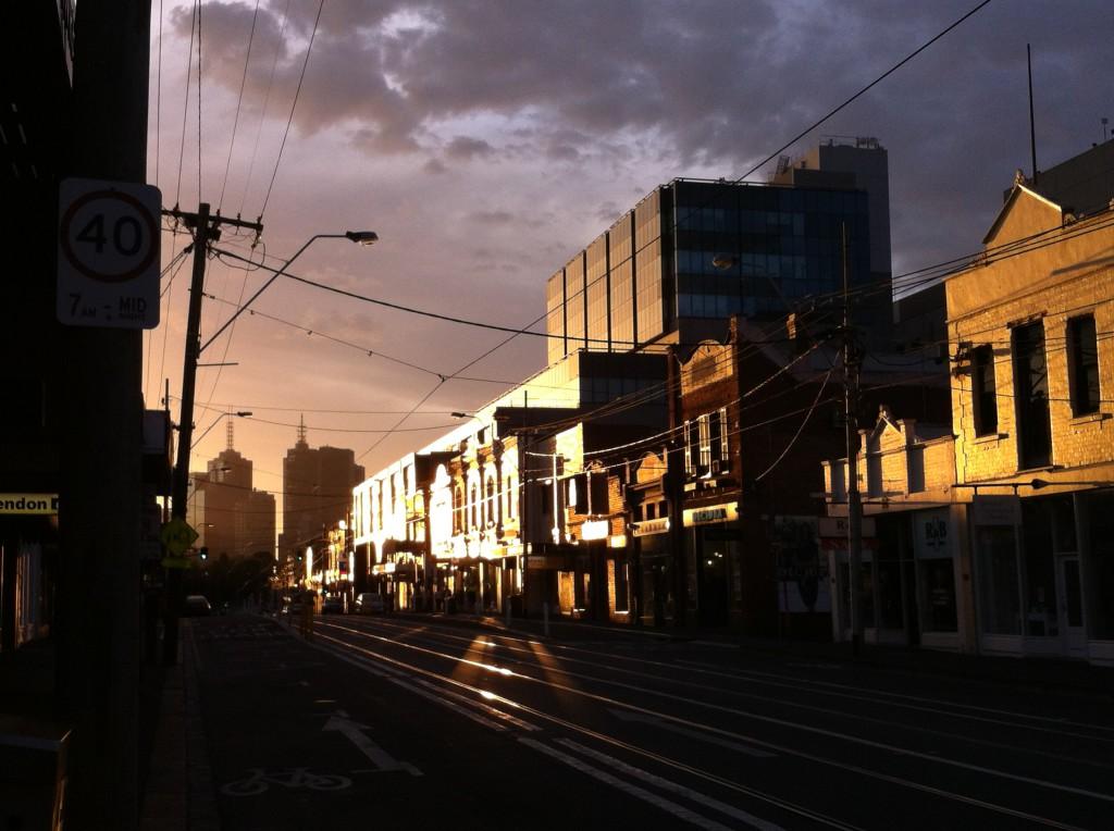 Bridge Road, Richmond, in evening light
