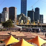 Federation Square and the skyscrapers, Melbourne