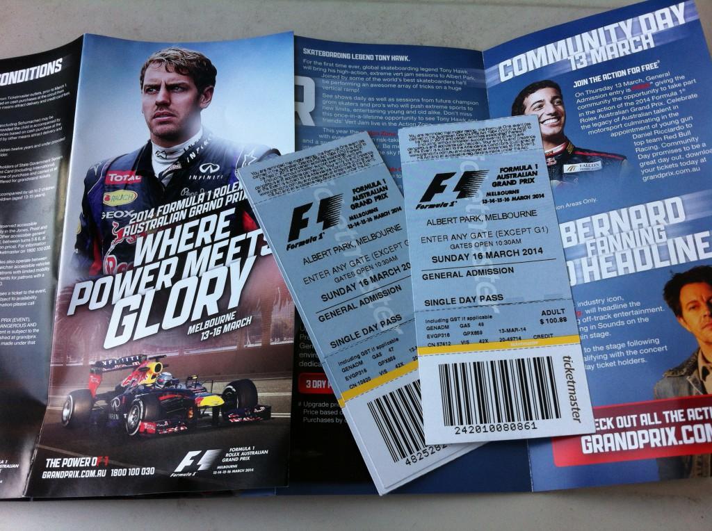 Australian Grand Prix 2014 tickets