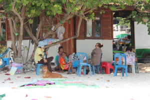 Locals on Ao Nuan beach, Ko Samet