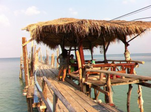 Pier restaurant on Ao Lung Dam beach, Ko Samet