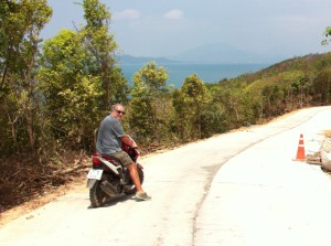 Ko Samet on a motor-bike