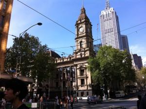 A street view of Melbourne CBD