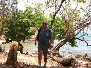 Walking between the Ko Samet beaches