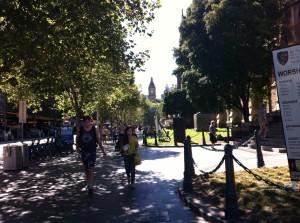 Walking in Melbourne CBD