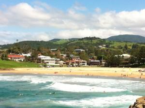 A beach at Kiama, New South Wales