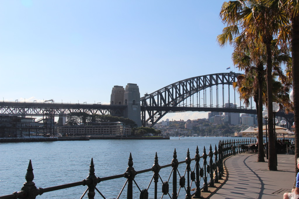 Sightseeing in Sydney: Harbour Bridge seen from Circular Quay