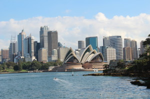 Sightseeing in Sydney: Opera House seen from a Sydney ferry