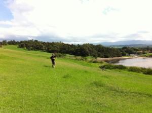 Walking along the footpath, Minnamurra