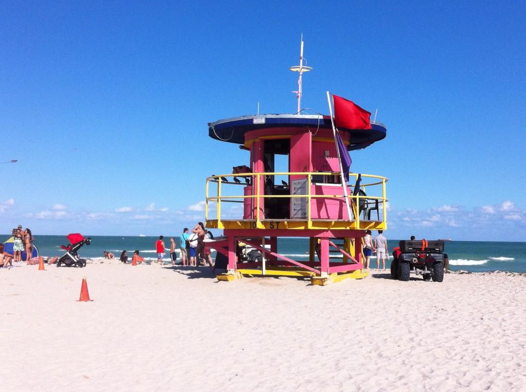 Miami beach hut