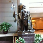 An Indian statue, US Capitol