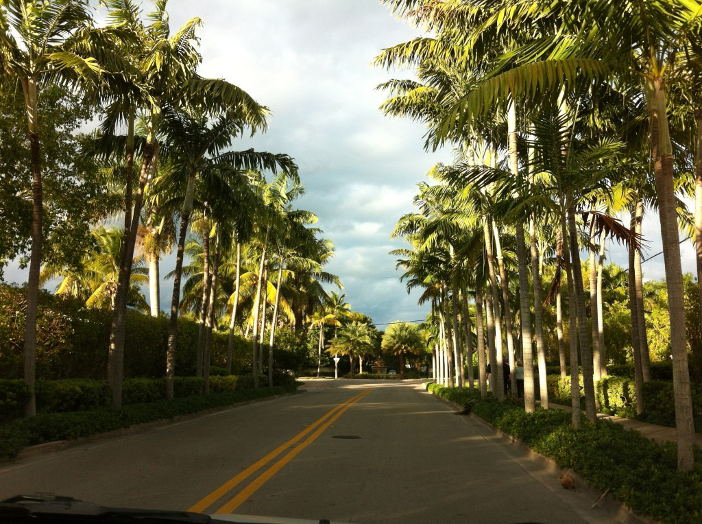Driving route sightseeing in Miami