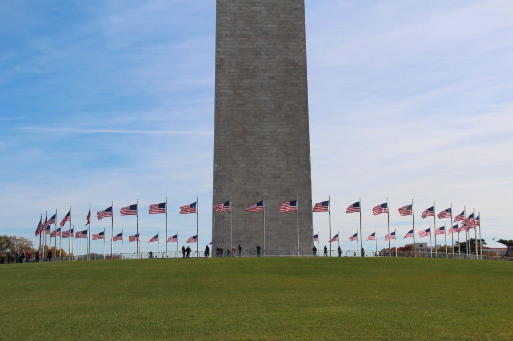 Us Flags Around Washington Monument Routes And Trips