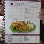 Menu of Miccosukee Indian Restaurant, the Everglades