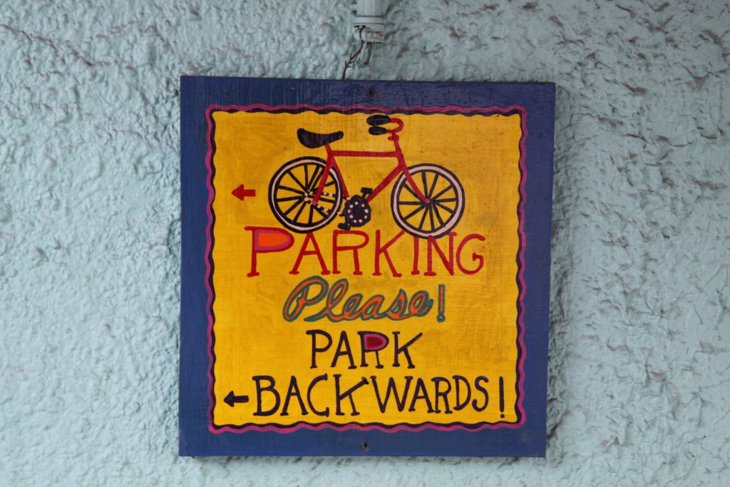 A parking sign, Key West