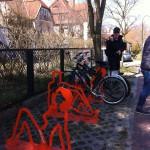 Bike holders near Bzezno pier, Gdansk