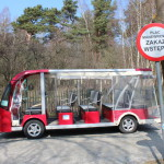 Electric car in Rabka, Slowinski National Park