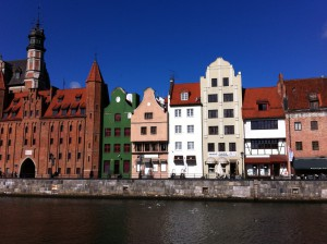 Historic Gdansk from Motlawa river