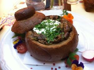 Main dish, Restaurant Velevetka, Gdansk