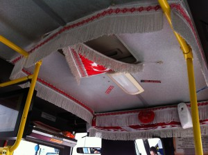 Ceiling of a dolmus bus, Turkey