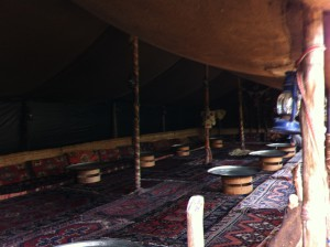 A tent in Yoruk Park