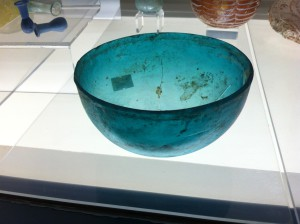Ancient glass bowl, Antalya Archeological Museum