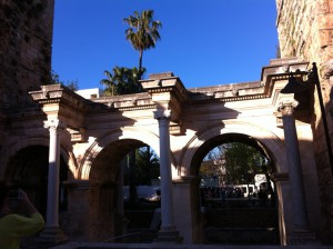 Hadrian's Gate in Antalya Old Town