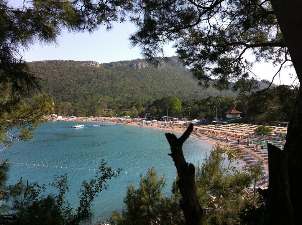 Kemer Beach seen from Yoruk Park