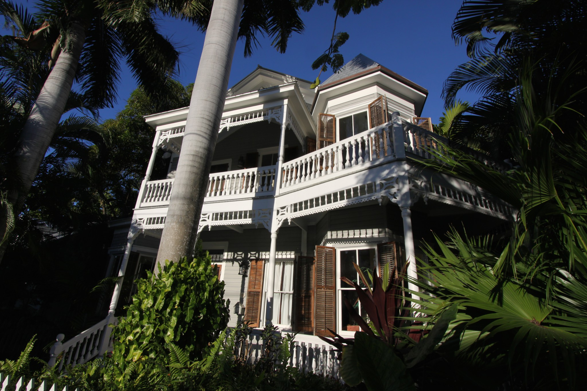 One day in Key West, a typical house