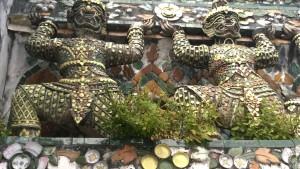 Decorations, Wat Arun, Bangkok by boat